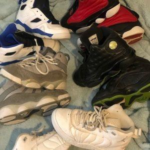 5 pair of kids sz 13 Jordan's